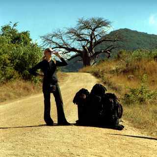 African hitchhiking. 