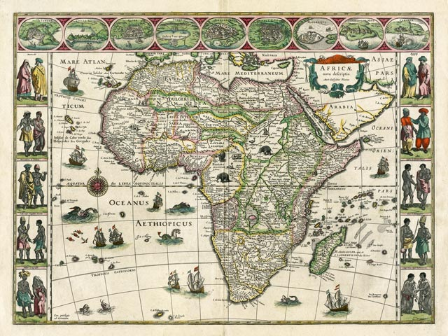 Map of Africa in 1617